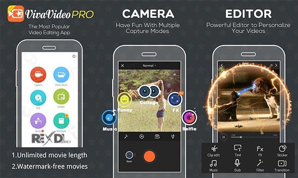دانلود ویوا ویدیو VivaVideo Pro 7.14.0 پرو برای اندروید