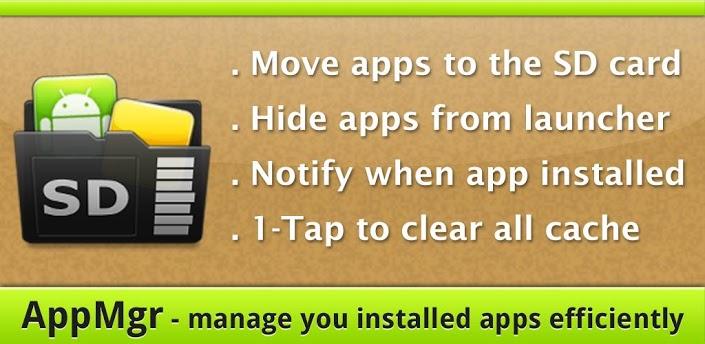 دانلود AppMgr Pro 5.24 برنامه انتقال برنامه ها به کارت حافظه برای اندروید