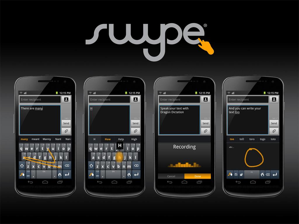 دانلود Swype Keyboard 3.2.4 نرم افزار سوایپ کیبورد برای اندروید