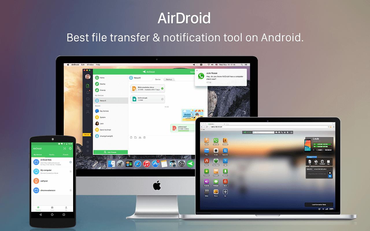 دانلود ایردروید AirDroid 4.2.5.0 برنامه  مدیریت گوشی های اندرویدی