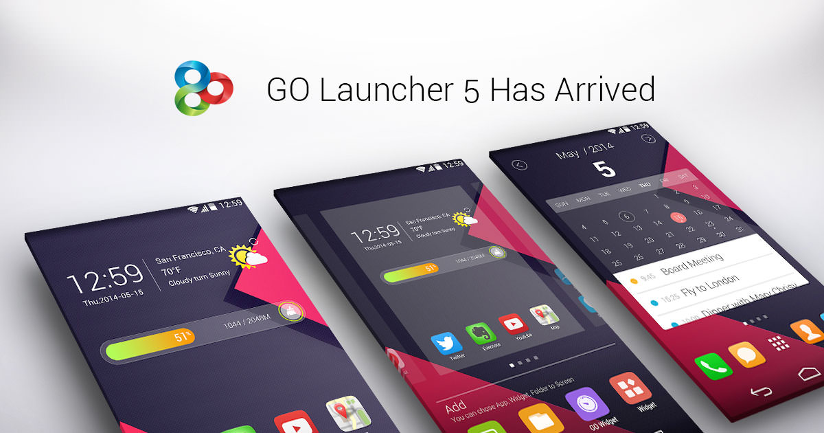 دانلود GO Launcher Z Prime VIP 3.19 برنامه گو لانچر برای اندروید