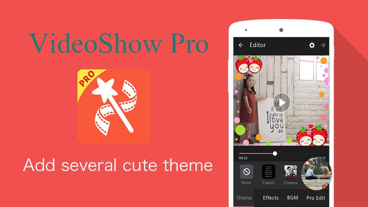 دانلود ویدیو شو 8.5.2 VideoShow Pro ویرایشگر قدرتمند و محبوب برای اندروید
