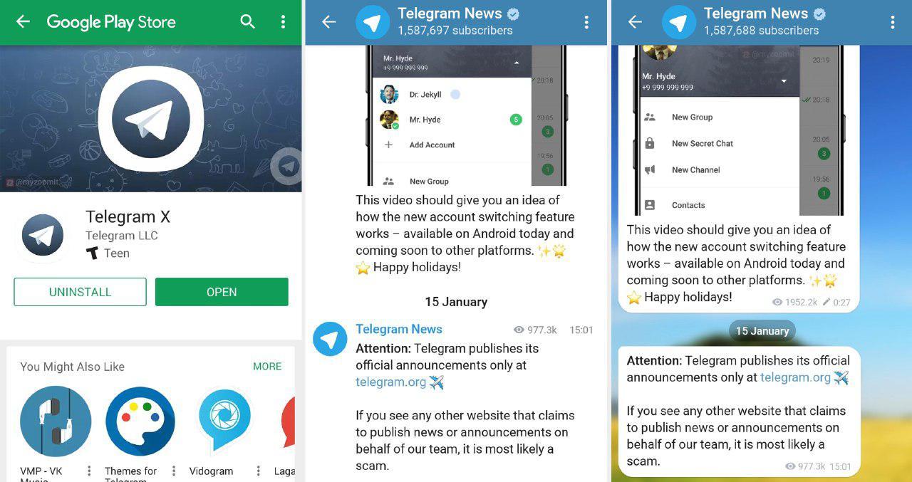 دانلود تلگرام ایکس Telegram X 0.23.7.1407 برای اندروید و آیفون