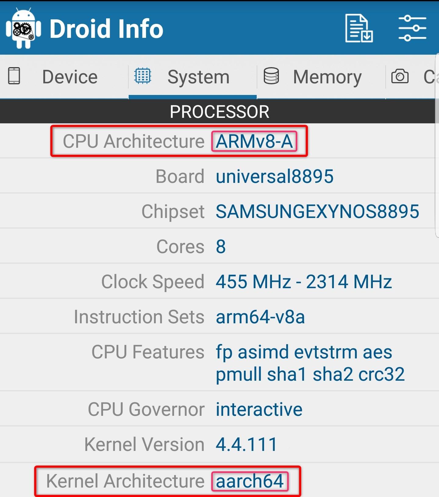 چهجوری بفهمیم پردازندهی گوشی ما از کدام نوع است (ARM - ARM64 - x86)