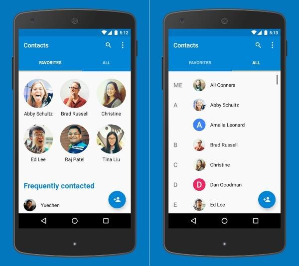 جدیدترین نسخه Google Contacts برنامه مدیریت مخاطبین گوگل برای اندروید