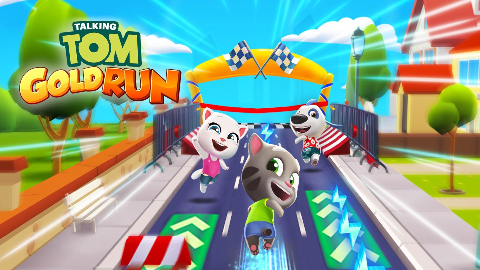 دانلود بازی تام دونده 5.2.0.957 Talking Tom Gold Run برای اندروید و iOS